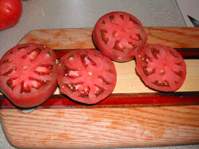 The Cherokee Pruple Tomato is a great slicer