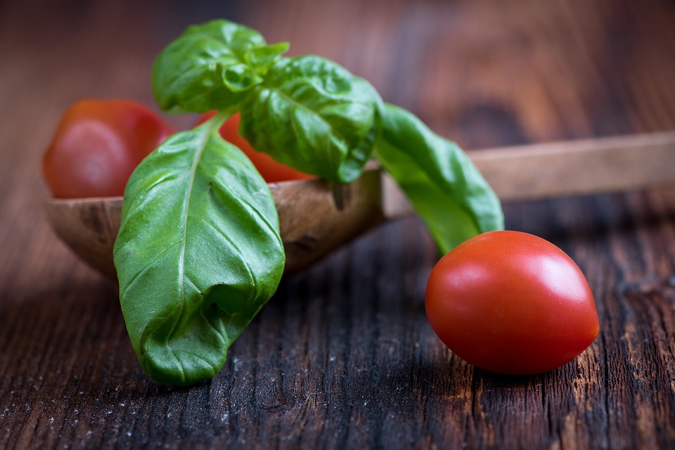 Basil and Tomatoes not only make great garden companions, but also culinary ones too!